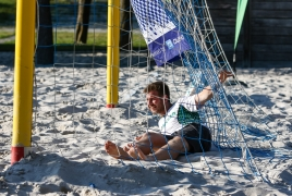Oberschleißheim, Deutschland, 13.07.2018:Beachsoccer, B2BEACHSOCCER MünchenFoto: Christian Riedel / fotografie-riedel.net