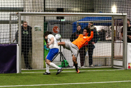 Heimstetten, Deutschland, 25.01.2020: Fußball, INDOOR B2SOCCER München  Foto: Christian Riedel / fotografie-riedel.net