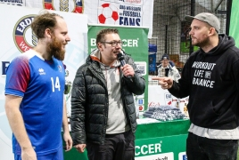 Unterföhring, Deutschland, 26.01.2019: Fußball, INDOOR B2SOCCER München  Foto: Christian Riedel / fotografie-riedel.net